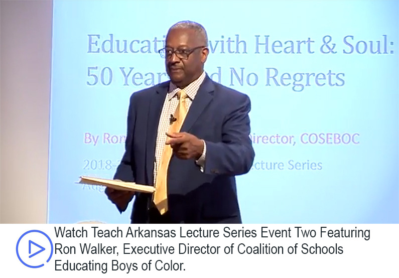 Teach Arkansas Lecture Series Two Event Speaker Ron Walker