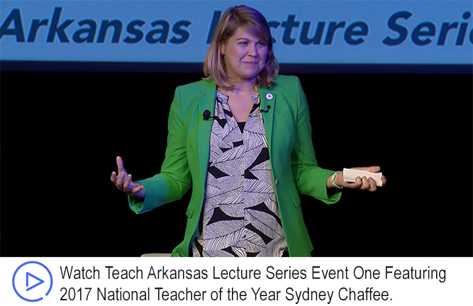 Teach Arkansas Lecture Series One Event Speaker Sydney Chaffee