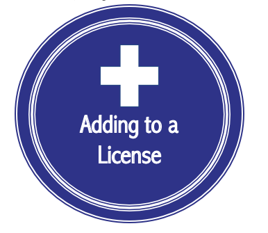 Renewing or Adding to a License