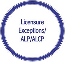 Licensure Exceptions/ALP/ALCP