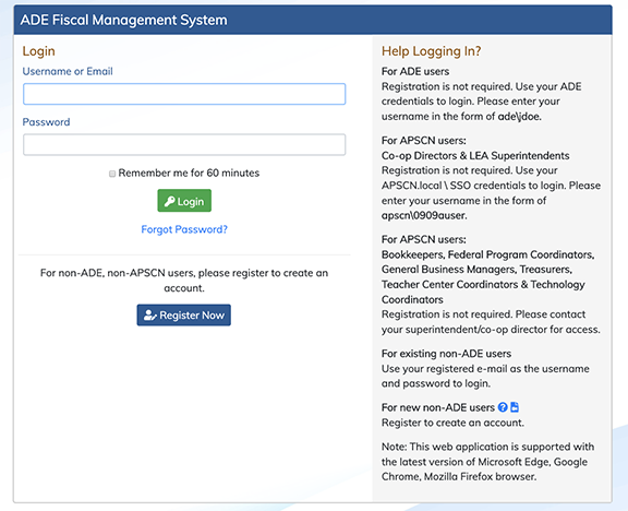 ADE Fiscal Management System