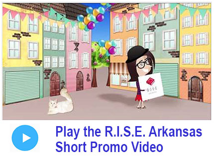 Screenshot of Anni character from RISe Arkansas promo video